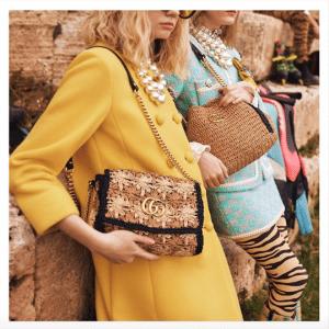 Gucci Raffia GG Marmont Tote Bag 2