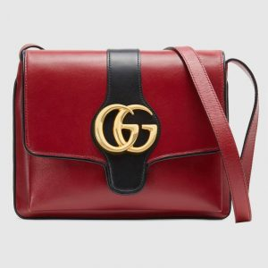 Gucci Red Arli Medium Shoulder Bag