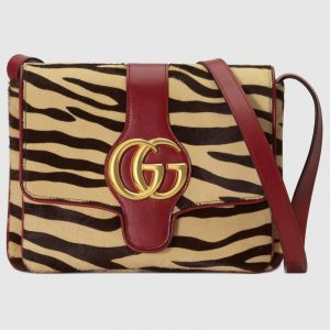 Gucci Tiger Print Calf Hair Arli Medium Shoulder Bag