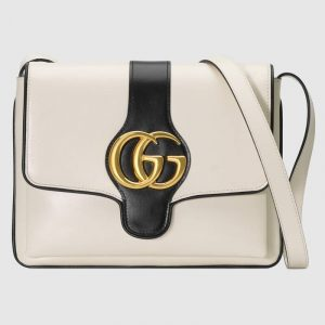 Gucci White Arli Medium Shoulder Bag