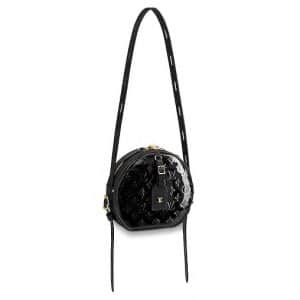 Louis Vuitton Black Monogram Vernis Boite Chapeau Souple Bag