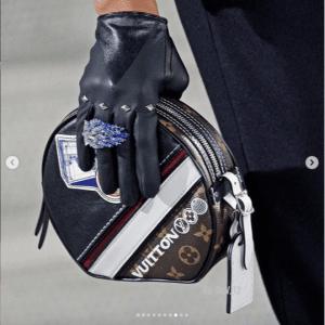 Louis Vuitton Black Printed Boite Chapeau Souple Bag