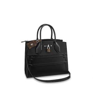 Louis Vuitton Black Trompe L'Oeil City Steamer MM Bag