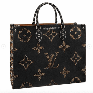 Louis Vuitton Black/Beige Monogram Giant Animal Onthego Tote Bag 1