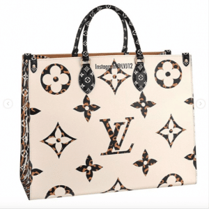 Louis Vuitton Black/Beige Monogram Giant Animal Onthego Tote Bag 2