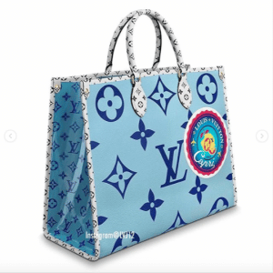 Louis Vuitton Blue Monogram Giant Capri Onthego Tote Bag