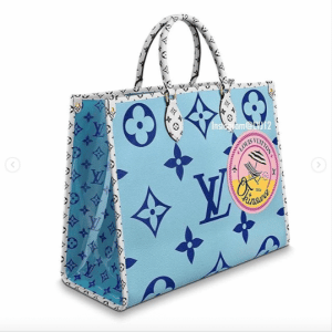 Louis Vuitton Blue Monogram Giant Okinawa Onthego Tote Bag 1