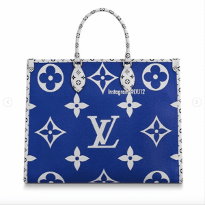 Louis Vuitton Blue Monogram Giant Okinawa Onthego Tote Bag 2