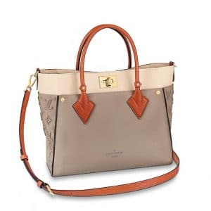 Louis Vuitton Galet Calfskin/Monogram Tufting On My Side Tote Bag