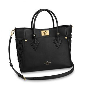 Louis Vuitton Noir Calfskin/Monogram Tufting On My Side Tote Bag