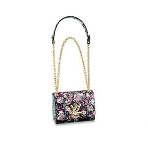 Louis Vuitton Pink Floral Print Twist PM Bag