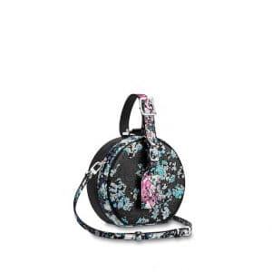 Louis Vuitton Pink/Blue Floral Print Petite Boite Chapeau Bag
