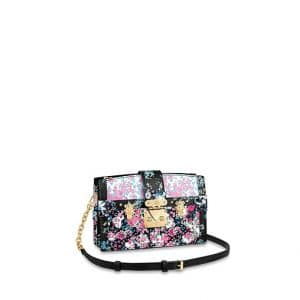 Louis Vuitton Pink/Blue Floral Print Trunk Clutch Bag