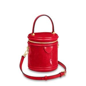 Louis Vuitton Rouge Monogram Vernis Cannes Bag