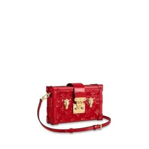 Louis Vuitton Rouge Monogram Vernis Petite Malle Bag