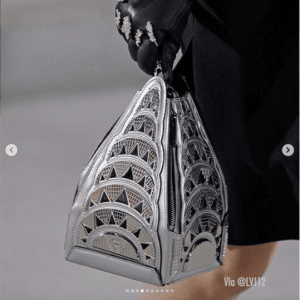 Louis Vuitton Silver Chrysler Building Mini Bag