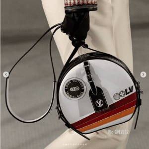 Louis Vuitton White Printed Boite Chapeau Souple Bag