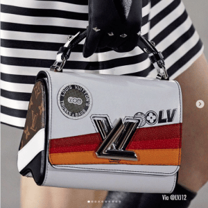 Louis Vuitton White Printed Twist Bag