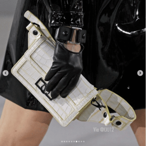 Louis Vuitton White/Yellow Crocodile Dauphine Belt Bag
