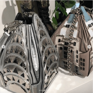 Louis Vuitton Silver Chrysler and Empire State Building Mini Bags