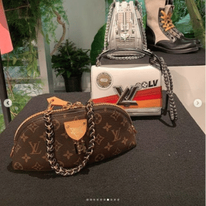 Louis Vuitton Printed Twist and Monogram Canvas Clutch Bag