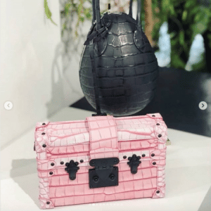 Louis Vuitton Black Crocodile Œuf and Pink Petite Malle Bags