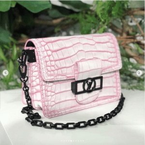 Louis Vuitton Pink Crocodile Dauphine Bag