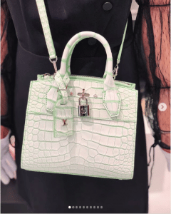 Louis Vuitton White Crocodile City Steamer Bag