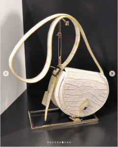 Louis Vuitton White Crocodile Saddle Bag