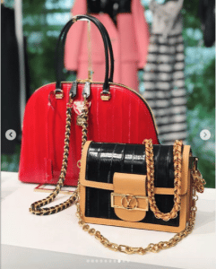 Louis Vuitton Red Alma and Black Dauphine Bags