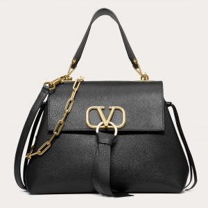 Valentino Black Buffalo VRing Small Bag