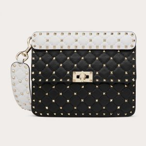 Valentino Black Spike.Up Medium Bag