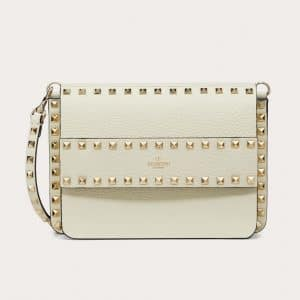 Valentino Light Ivory Rockstud Small Crossbody Bag
