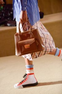 Prada Brown Top Handle Bag