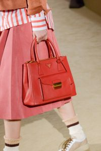 Prada Red Top Handle Bag