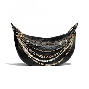 Chanel Black All About Chains Hobo Bag