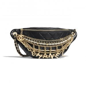 Chanel Black All About Chains Waist Bag