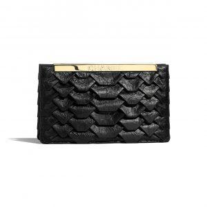 Chanel Black Calfskin Clutch Bag