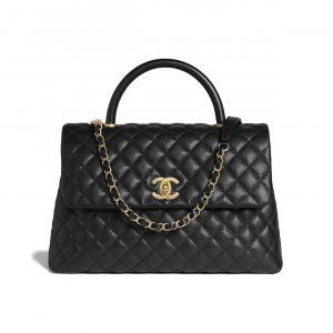 Chanel Black Medium Coco Handle Bag