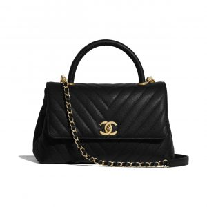 Chanel Black Small Coco Handle Bag