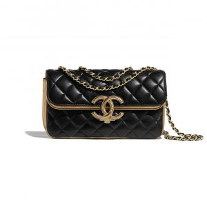 Chanel Black:Gold CC Chic Small Flap Bag