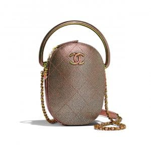 Chanel Copper Grained Metallic Lambskin with Rainbow Metal Camera Case Bag