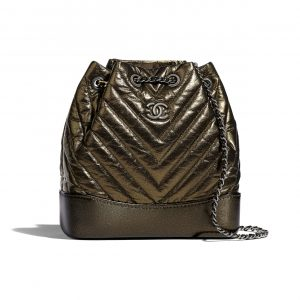 Chanel Gold Gabrielle Small Backpack Bag