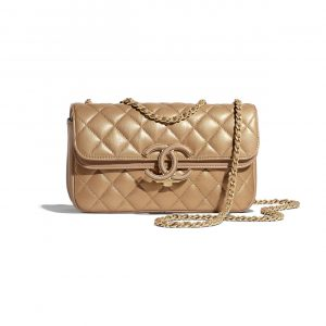 Chanel Gold:Beige CC Chic Small Flap Bag