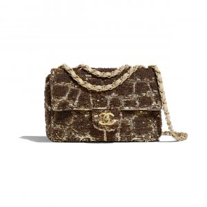 Chanel Gold:Copper Sequins Small Flap Bag