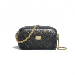 Chanel Gray Glittered Aged Calfskin Reissue Camera Case Bag
