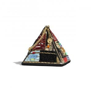Chanel Multicolor Lambskin:PVC:Glass Pyramid Bag