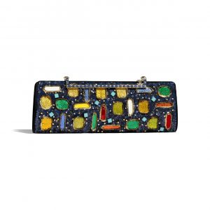 Chanel Multicolor Mixed Fibers:Resin Clutch Bag