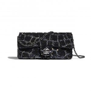 Chanel Navy Blue:Gold Sequins Flap Bag