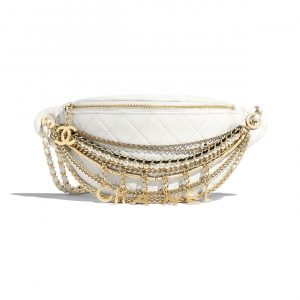 Chanel White All About Chains Waist Bag